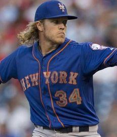 Noah Syndergaard of the New York Mets throws