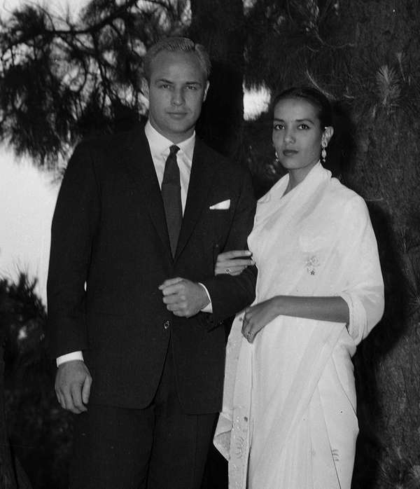 Actor Marlon Brando, 33, and actress Anna Kashfi,