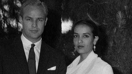 Actor Marlon Brando, 33, and actress Anna Kashfi,