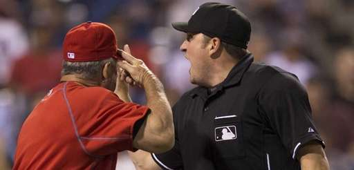 Phillies bench coach Larry Bowa gets ejected after