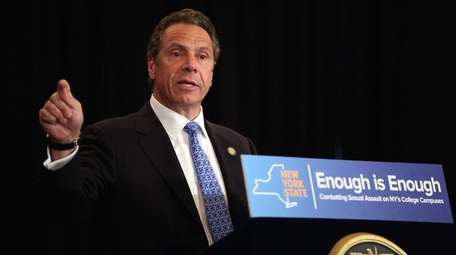 Gov. Andrew Cuomo speaks at an event at