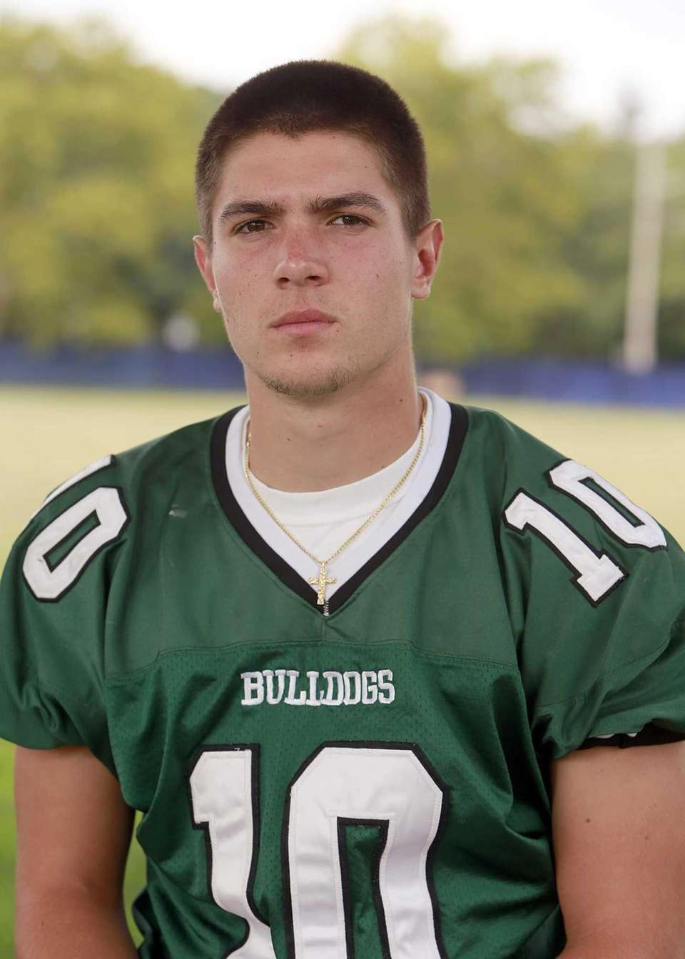 Lindenhurst, senior Quarterback Ryan Hofmann passed for 1,980