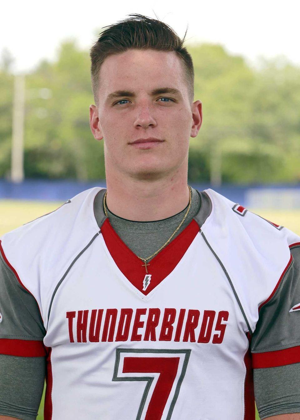 Connetquot, senior Quarterback Jack Cassidy passed for 12