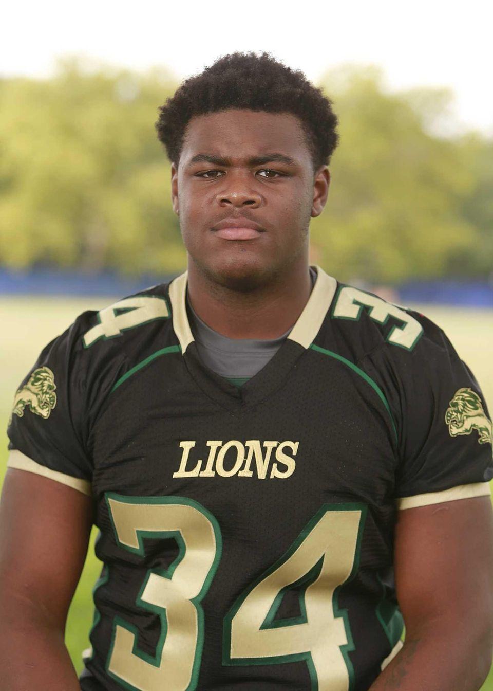 Longwood, senior Fullback/linebacker Latrell Horton will move to