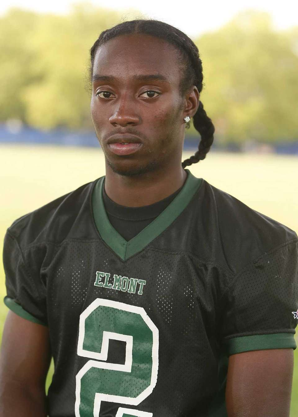 Elmont, senior Wide receiver/defensive back With speed, strength,
