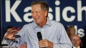 Republican presidential candidate, Ohio Gov. John Kasich speaks
