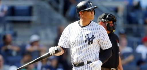 Alex Rodriguez of the New York Yankees strikes