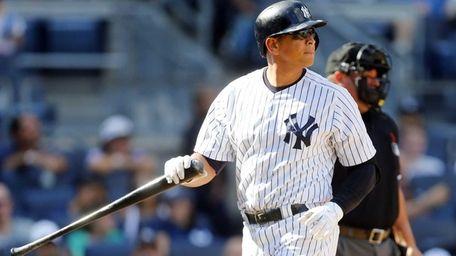 Alex Rodriguez of the New York Yankees strikes