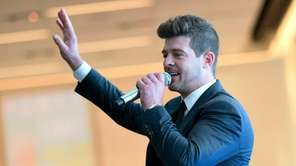 Singer Robin Thicke participates in a VH1 Save