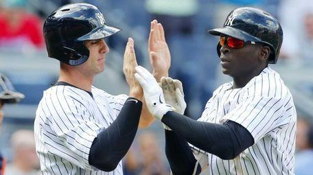 Didi Gregorius of the New York Yankees celebrates