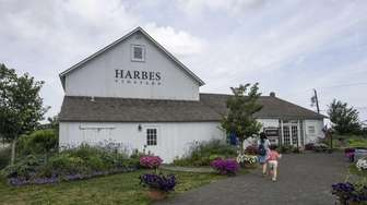 Harbes wine tasting barn in Mattituck is housed