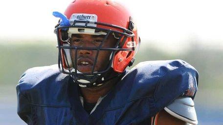 Nassau Community College defensive end Bryan Johnson, of
