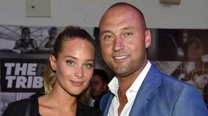 Model Hannah Davis and retired baseball player Derek