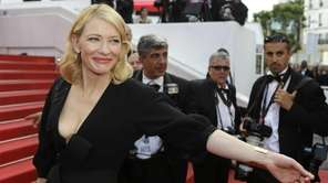 Cate Blanchett arrives for the screening of the