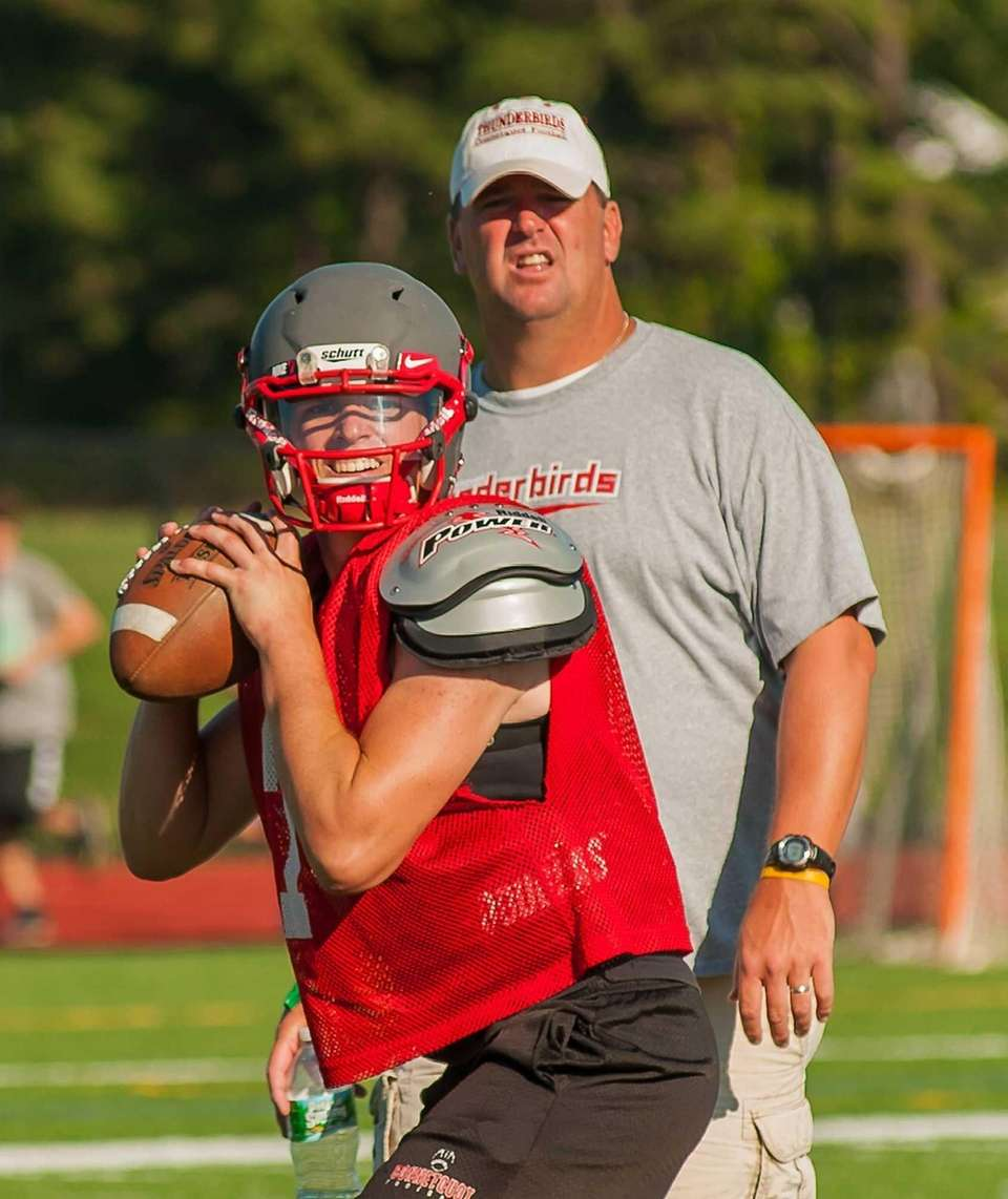 Connetquot's drops back to pass Jack Cassidy during