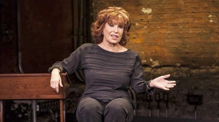 Joy Behar in her one-woman show,