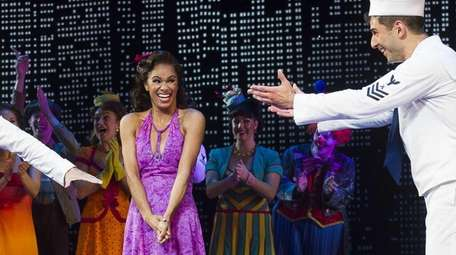 Misty Copeland, center, appears at the curtain call