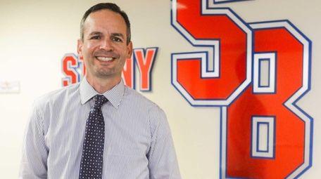 Stony Brook University Athletic Director Shawn Heilbron poses
