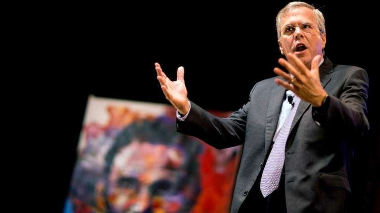 Republican presidential candidate Jeb Bush speaks at the