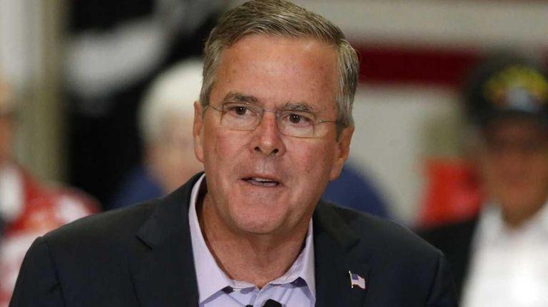 Republican presidential candidate, former Florida Gov. Jeb Bush,