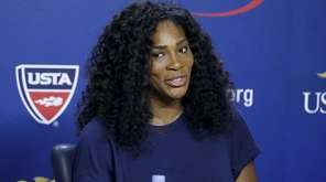 Serena Williams speaks to the media about the