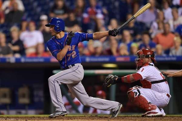 Carlos Torres of the New York Mets hits