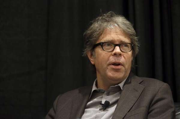 Jonathan Franzen speaking at BookExpo America in May.