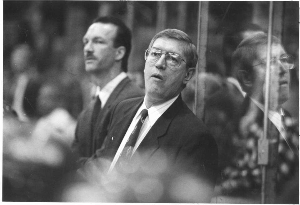 Islanders coach Al Arbour during a game.