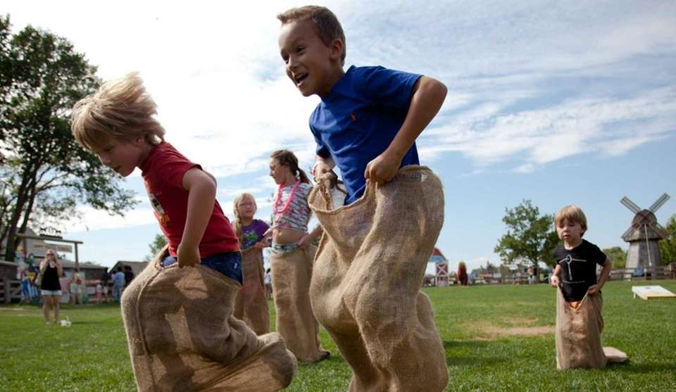 Families can enjoy the Barnyard Adventure and fall
