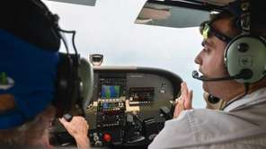 Newsday writer and pilot in training, Bill Bleyer,