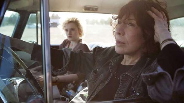 Julia Garner, left, and Lily Tomlin in