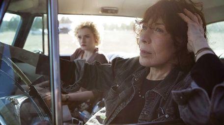 Julia Garner, left, and Lily Tomlin in