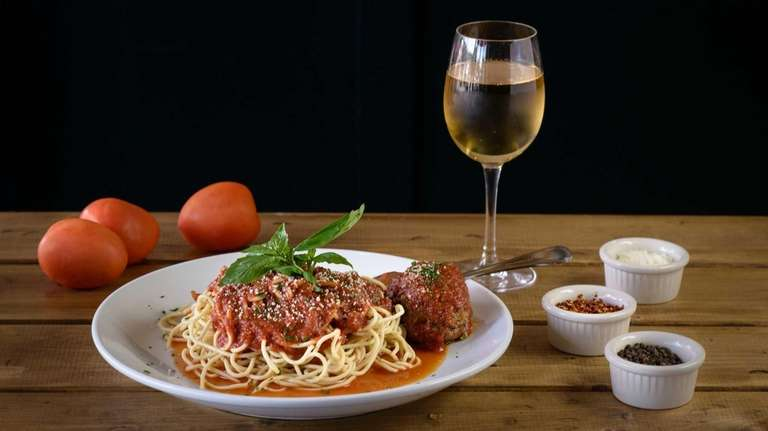 Spaghetti with Sunday sauce at Oregano Joe's in