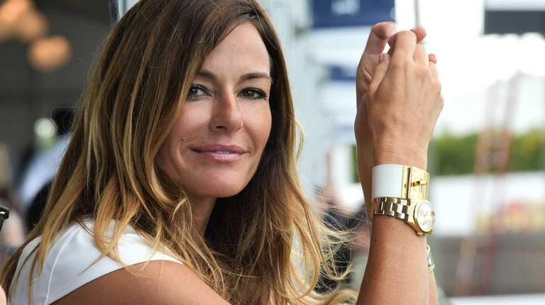 Kelly Bensimon enjoys watching the jumpers on the