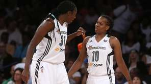 New York Liberty's Tina Charles and Epiphanny Prince