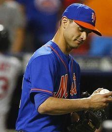 Carlos Torres of the New York Mets looks