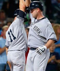 Brian McCann of the New York Yankees reacts