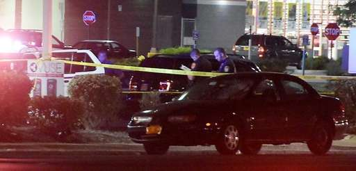 Suffolk County police at the scene after a