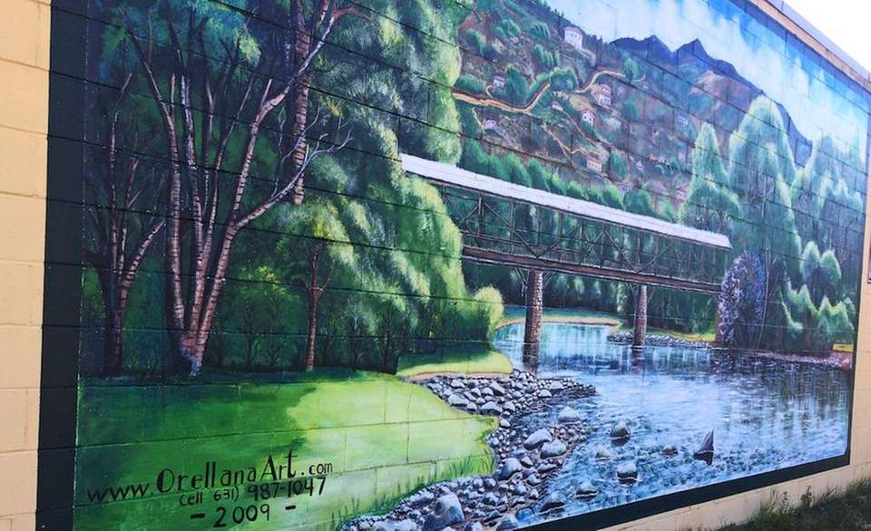 This landscape mural can be found on the