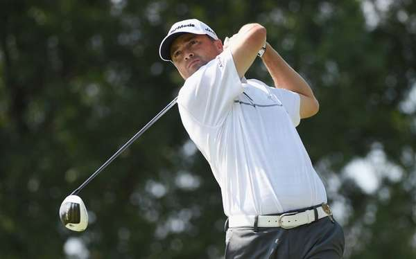 Ryan Palmer of the United States watches his