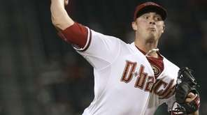 Arizona Diamondbacks Pitcher Addison Reed delivers a pitch