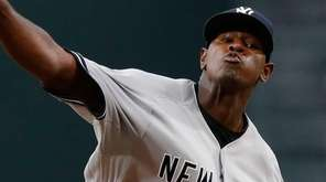Pitcher Luis Severino of the New York Yankees