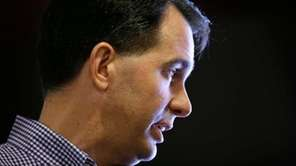 Republican presidential candidate Wisconsin Gov. Scott Walker speaks