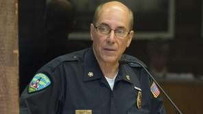 Montauk Fire Chief Michael Mirras spoke about the