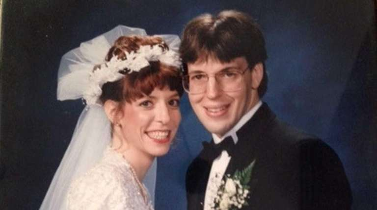 Mindy and Jonathan Rich on their wedding day,