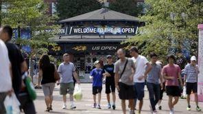 Fans walk through USTA Billie Jean King National