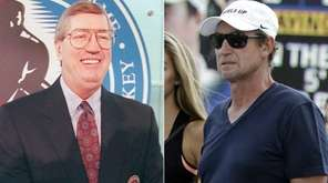 Left: Former New York Islander coach Al Arbour
