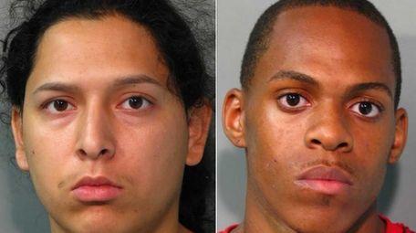 From left, Robin Diaz, 24, Rodney King, 22,