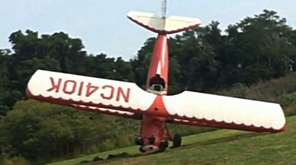 Police say this bi-plane had engine issues and