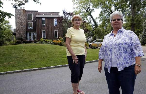 Julie Hession, left, and her friend and neighbor,